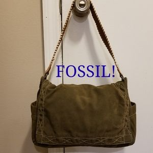 Fossil Purse With Western Leather  Strap!  Unique!